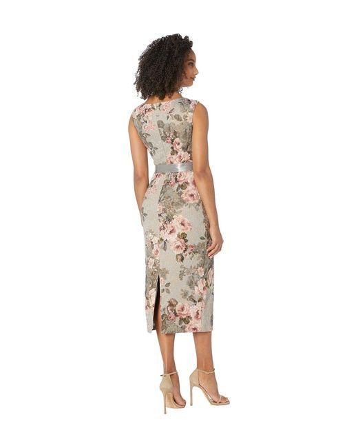 ADRIANNA PAPELL English Rose Matelasse Jacquard A-Line Dress NEW Womens Sz 6 10