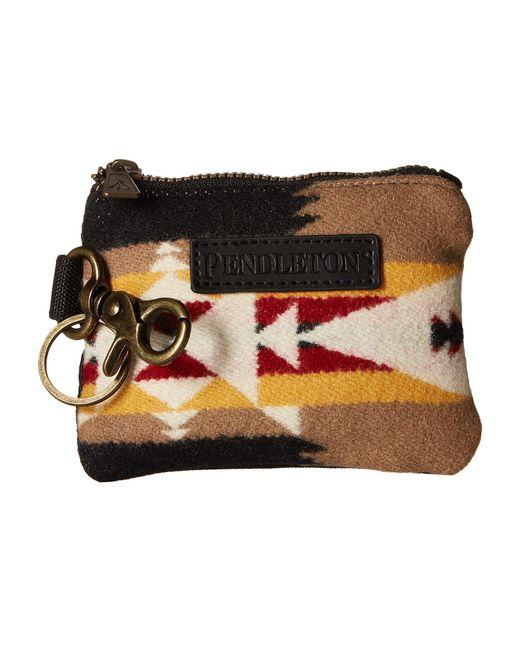 Pendleton - Black Id Pouch Key Ring (tucson Khaki) Wallet Handbags - Lyst