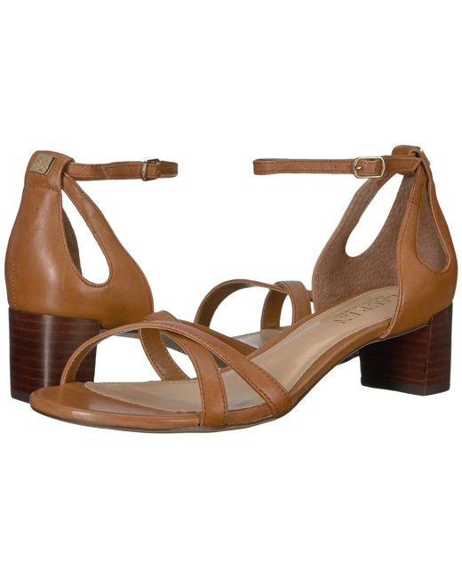 4a33be9cb55 Lyst - Lauren by Ralph Lauren Folly Sandals in Brown - Save 3%