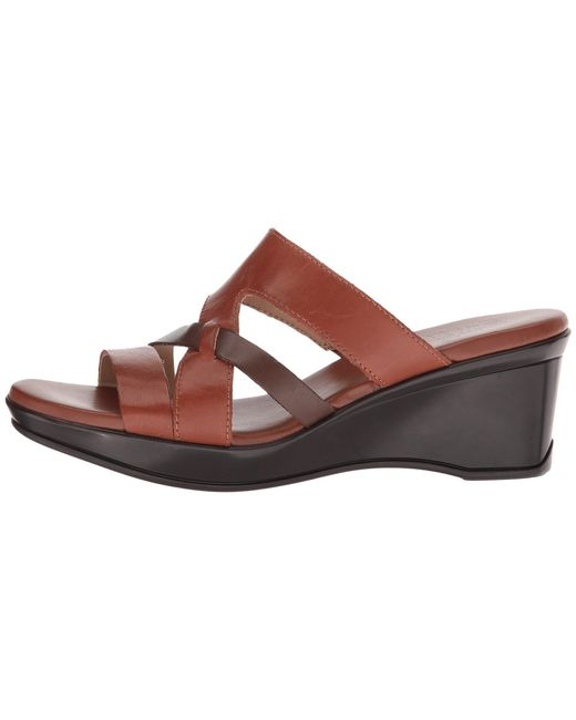 9b2befbfce25 Lyst - Naturalizer Vivy (black Leather) Women s Sandals in Brown ...