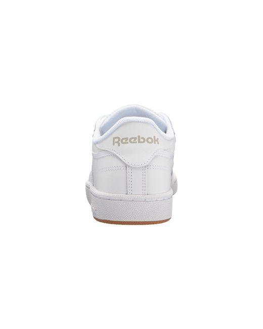 1928c7d185f ... Reebok - Multicolor Club C 85 (white light Grey gum) Women s Shoes ...