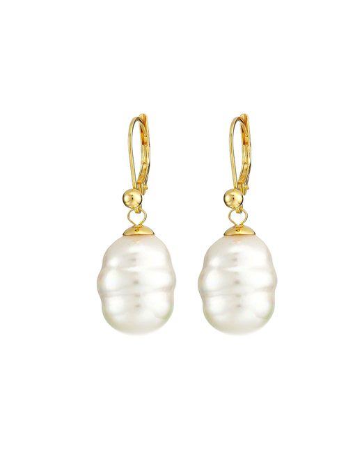 Majorica - White 12mm Baroque Pearl Drop Earrings - Lyst