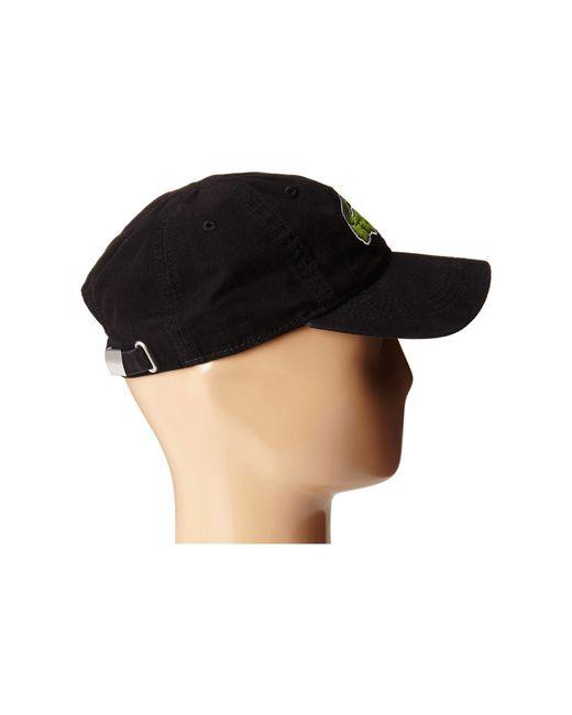... Lacoste - Black Big Croc Gabardine Cap (sinople) Baseball Caps for Men  - Lyst ... 5adb512aa95