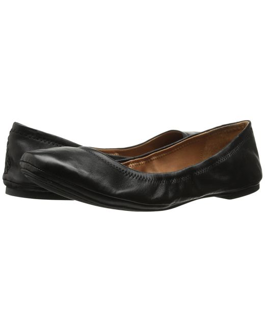 Lucky Brand Black Emmie Leather Ballet Flats