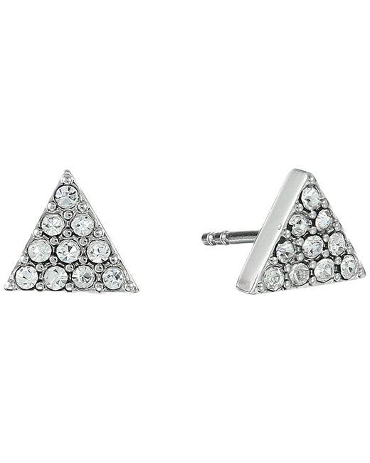 Fossil   Metallic Triangle Ear Jackets Earrings   Lyst