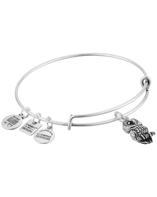ALEX AND ANI   Metallic Charity By Design Ode To The Owl Charm Bangle   Lyst