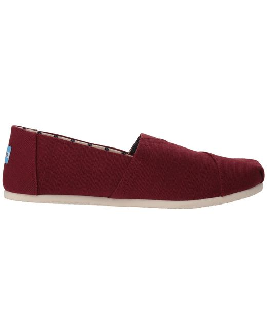 c4267557eb4 ... TOMS - Red Venice Collection Alpargata (airforce Blue Heritage Canvas)  Men s Slip On Shoes ...
