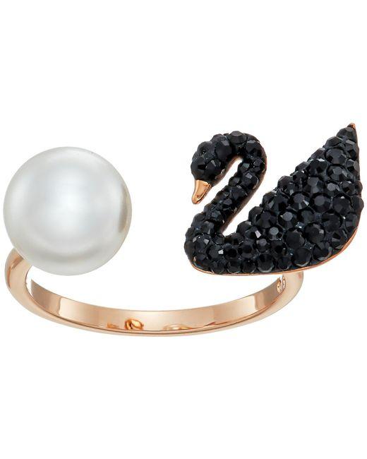 Swarovski - Iconic Swan Ring (black) Ring - Lyst