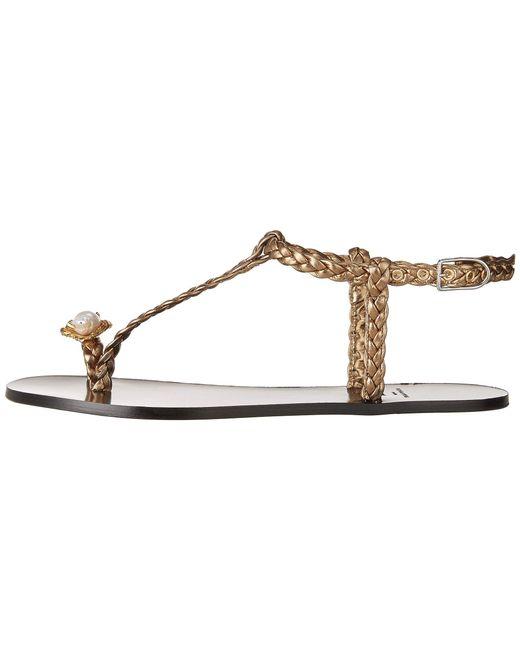 Sonia Rykiel Laminated Sheepskin Flat Pearl Toe Sandal di9IWy4