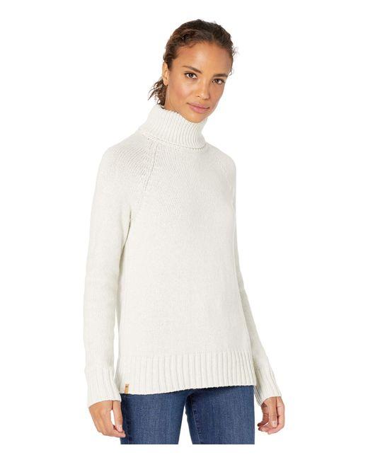 Tentree White Highline Wool Turtleneck Sweater