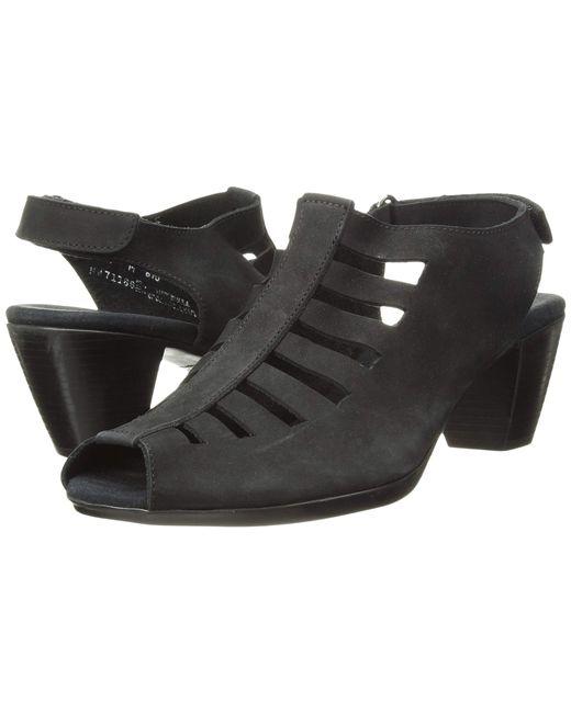 77fa015dc55d Lyst - Munro Abby (black Nubuck) Women s Shoes in Black