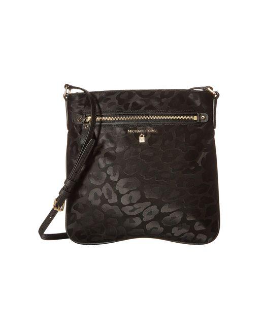 MICHAEL Michael Kors - Black Nylon Kelsey Large Crossbody (plum) Cross Body  Handbags ... ff30a8cd94