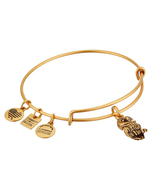 ALEX AND ANI - Metallic Charity By Design Ode To The Owl Charm Bangle - Lyst