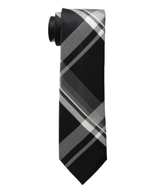 Kenneth Cole Reaction - Onyx Plaid (black) Ties for Men - Lyst
