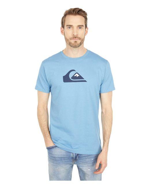 Quiksilver Blue Comp Logo Short Sleeve Tee for men