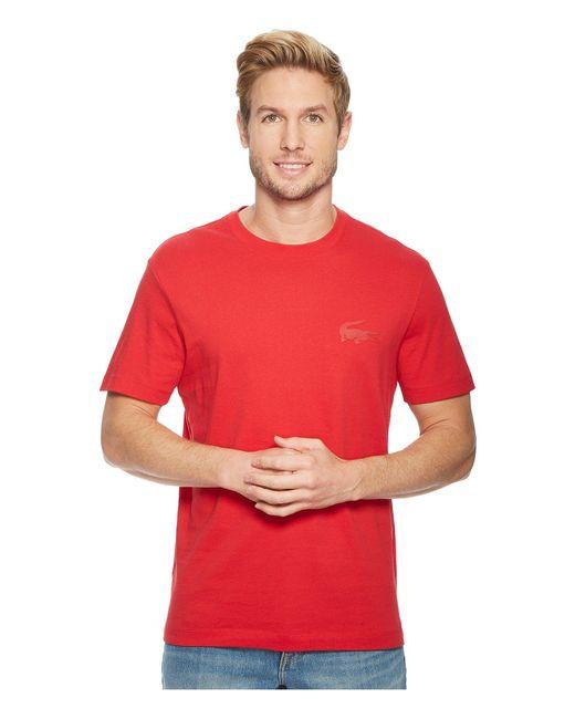 Lacoste - Red Short Sleeve 'graphics' Jersey Bonded Croc Regular for Men - Lyst