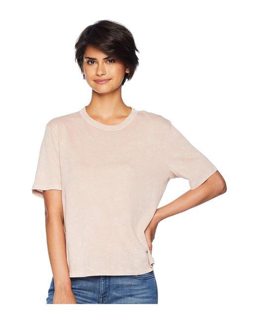 Splendid - Outpost Mineral Wash Tee (pink Beige) Women's T Shirt - Lyst