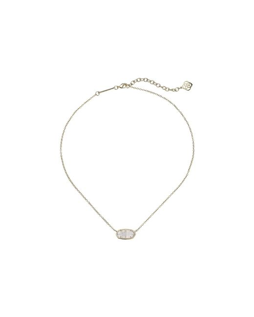 Kendra Scott - Metallic Elisa Pendant Necklace (rhodium/white Mother Of Pearl) Necklace - Lyst