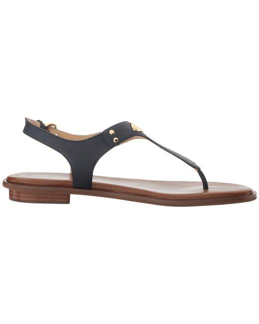 2728fdb70087 ... MICHAEL Michael Kors - Multicolor Mk Plate Thong (navy Saffiano 1)  Women s Sandals ...