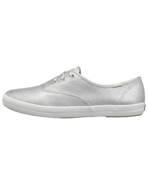 348d324c9a7d ... Lyst Keds - Champion Matte Brushed Metallic (silver) Women s Lace Up  Casual Shoes ...