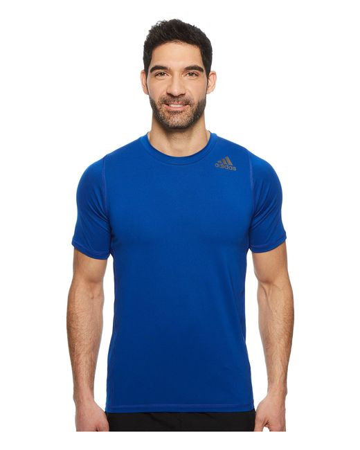 Adidas - Blue Alphaskin Sport Fitted Short Sleeve Tee for Men - Lyst