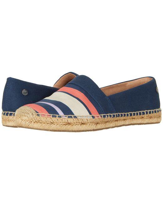 Ugg - Blue Reneda Stripe (navy) Women's Slip On Shoes - Lyst