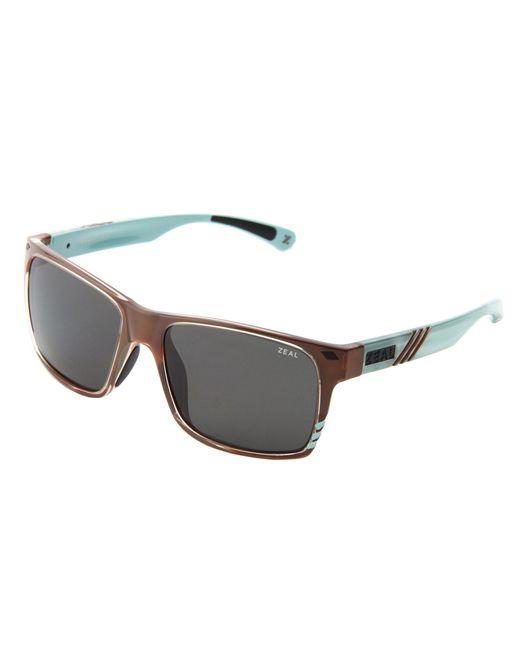 Zeal Optics - Blue Brewer (matte Black W / Dark Grey Polarized Lens) Sport Sunglasses - Lyst