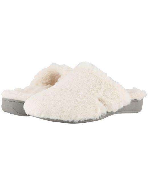 6087caf48e90 Vionic - White Gemma Plush (black) Women s Slippers - Lyst ...