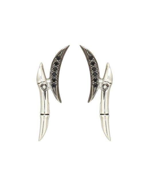 John Hardy - Metallic Bamboo Earrings With Black Sapphire And Black Spinel (silver) Earring - Lyst