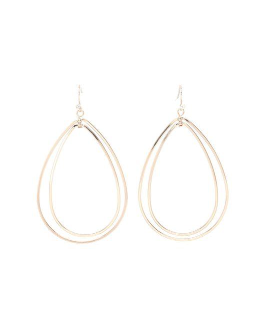 Guess | Pink Double Teardrop Wire Hoop Earring | Lyst