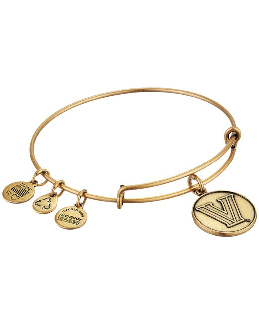 ALEX AND ANI - Metallic Villanova University(r) Logo Charm Bangle (rafaelian Gold Finish) Bracelet - Lyst