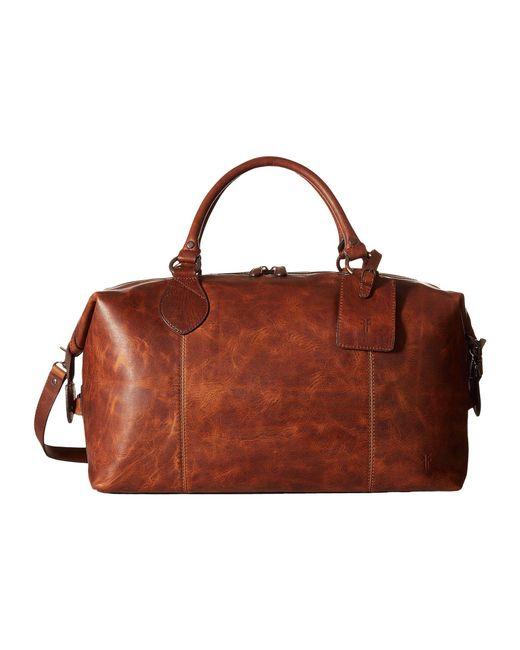 Frye - Multicolor Logan Overnight (dark Brown Antique Pull Up) Satchel Handbags for Men - Lyst