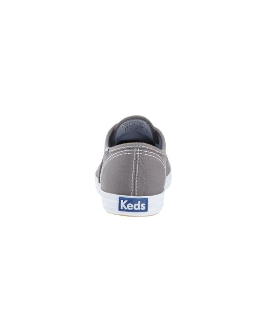 fa94d0d13df ... Keds - Gray Champion-canvas Cvo (graphite) Women s Lace Up Casual Shoes  for ...