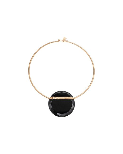 Robert Lee Morris Black Round Wire Necklace