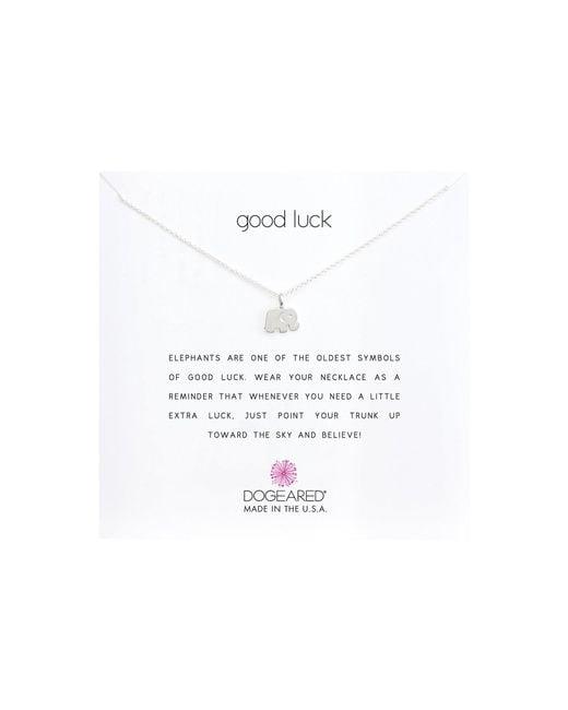 Dogeared - Metallic Good Luck Elephant Reminder Necklace - Lyst