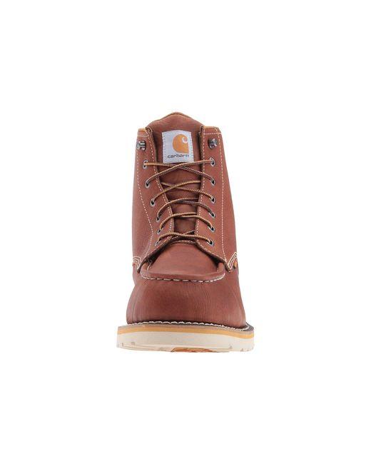 88adb579fb60 ... Carhartt - Gray 6-inch Steel Toe Waterproof Wedge Boot (tan Oil Tanned  Leather