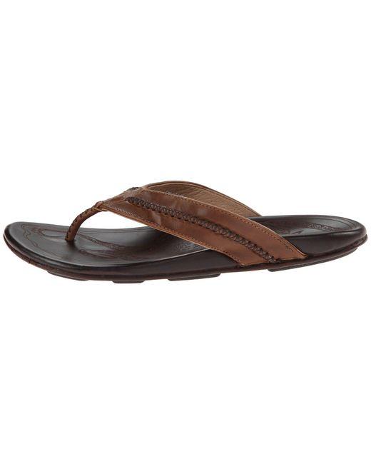 c47cd09390b88 Lyst - Olukai Mea Ola (terra dark Wood) Men s Sandals in Brown for Men