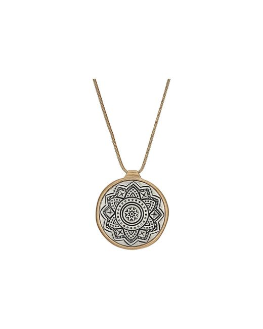 The Sak - Metallic Etched Inlay Pendant Necklace 28 (turquoise) Necklace - Lyst
