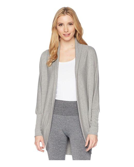 Jockey Active - Gray Cocoon Wrap (deep Black) Women's Sweater - Lyst