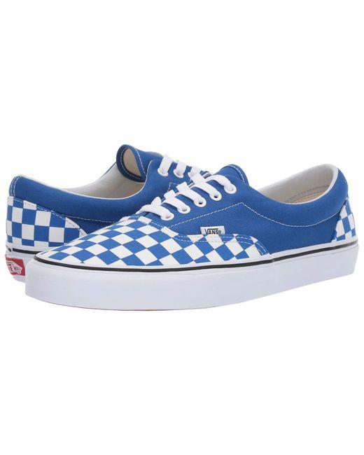 192c6c9c0d3 Lyst - Vans Eratm ((primary Check) Black white) Skate Shoes in Blue ...