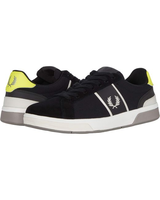 Fred Perry Black B200 Ripstop/suede for men