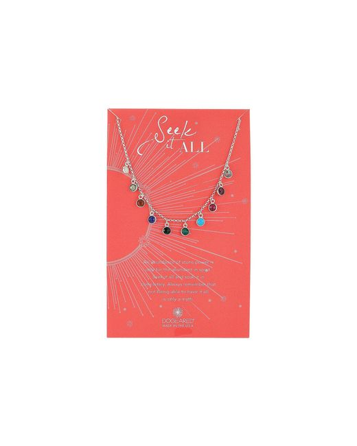 Dogeared - Multicolor Seek It All, Bezeled Kitchen Sink Necklace (sterling Silver) Necklace - Lyst