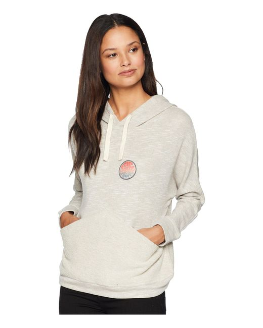 Rip Curl - Gray Low Tide Pullover Hoodie - Lyst