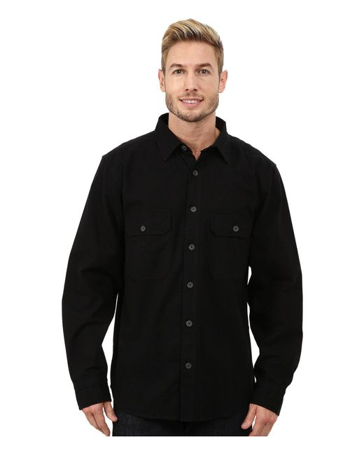 Woolrich - Black Expedition Chamois Shirt for Men - Lyst