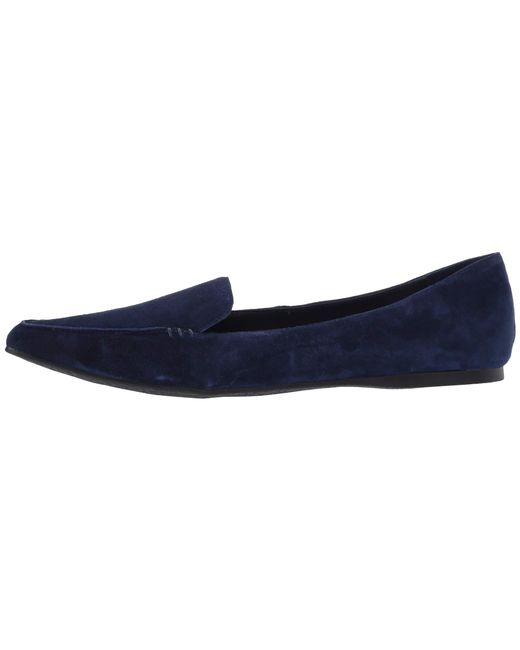 a244f688542 Lyst - Steve Madden Feather Loafer Flat in Blue - Save 43%