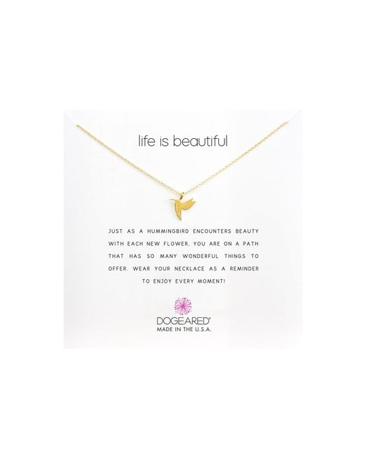 Dogeared - Metallic Life Is Beautiful Hummingbird Reminder - Lyst