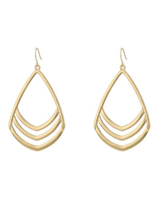 Vince Camuto - Metallic Chevron Drop Earrings (silver) Earring - Lyst