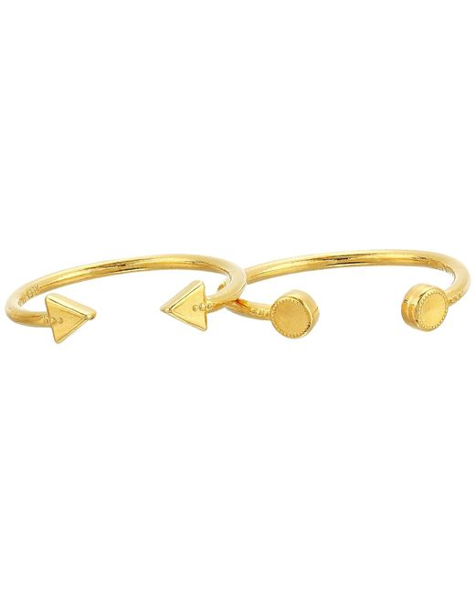 ALEX AND ANI - Metallic Triangle And Circle Ring Set Of 2 (14kt Gold Plated) Ring - Lyst