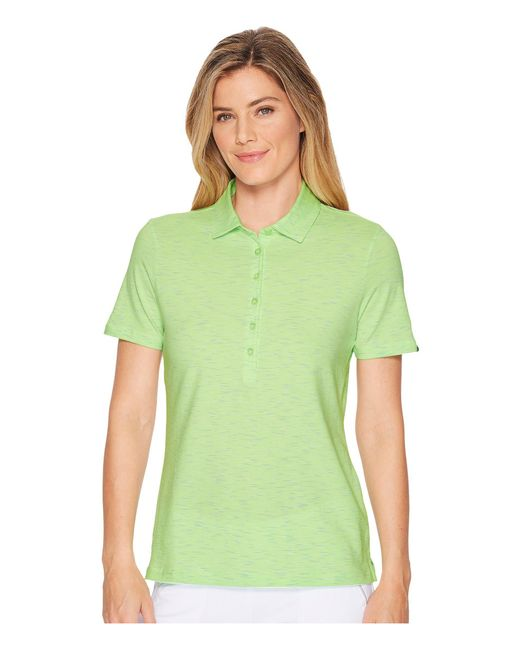 Skechers - Green Go Golf Space Dye Polo (light Pink) Women's Clothing - Lyst