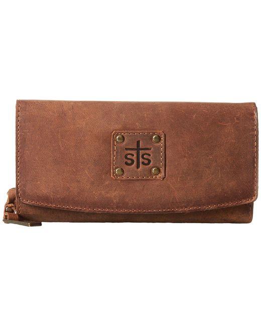STS Ranchwear - The Baroness Tri-fold Wallet (brown) Wallet Handbags - Lyst